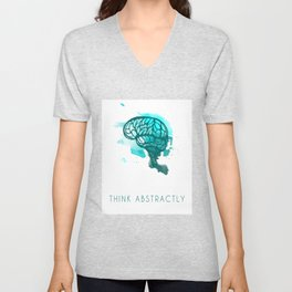 Think Abstractly Unisex V-Neck