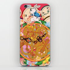 Running with time iPhone Skin