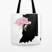 indiana Tote Bags featuring Indiana Silhouette by Ursula Rodgers