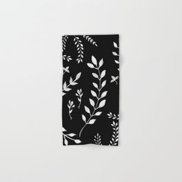 White Leaves Pattern #3 #drawing #decor #art #society6 Hand & Bath Towel