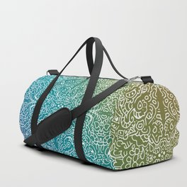 muted rainbow doodle gradient pattern Duffle Bag