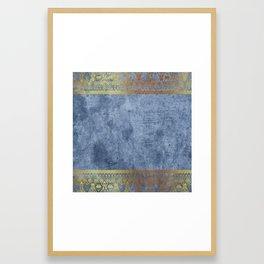 Blue Egypt Framed Art Print
