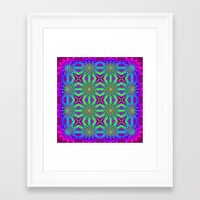 psychedelic art Framed Art Prints featuring PSYCHEDELIC flowers by 2sweet4words Designs