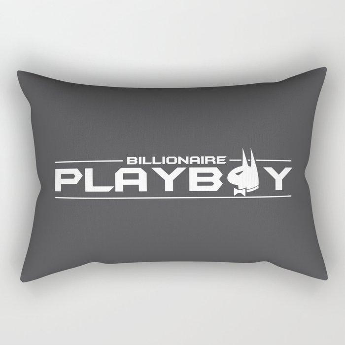 Billionaire Playboy Rectangular Pillow