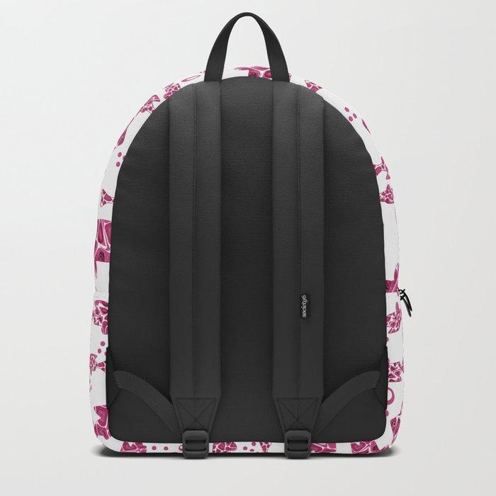 Raspberry pink fish. Backpack