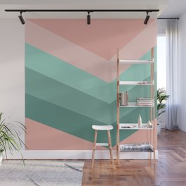 Retro pink and greeen Wall Mural