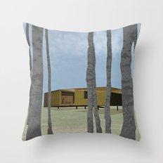 wood pavilion Throw Pillow