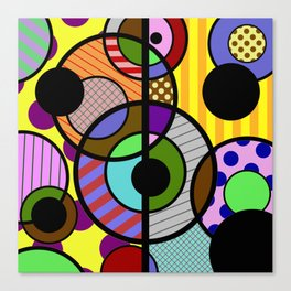 Patterned Retro - Geometric, Abstract Artwork Canvas Print