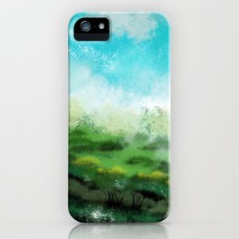 Nice day in the valley iPhone Case