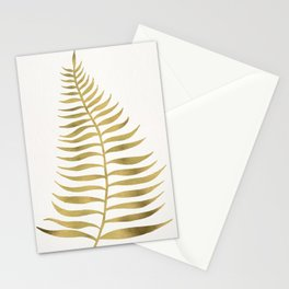 Golden Palm Leaf Stationery Cards