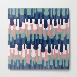 Funny Liquid Abstract Colorful Pattern 002 Metal Print