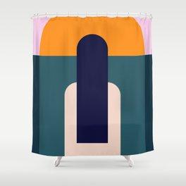 Sun Gazing Girl Shower Curtain