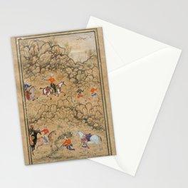 Abdul-Samad - Prince Akbar and Noblemen Hawking (1558) Stationery Cards