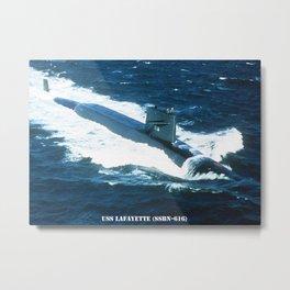 USS LAFAYETTE (SSBN-616) Metal Print