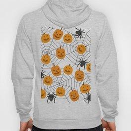 Halloween Pattern Spider Pumpkin Hoody