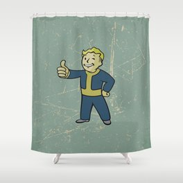 Vault Boy - fallout 4 Shower Curtain