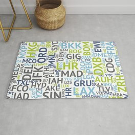 Airport Codes Rug