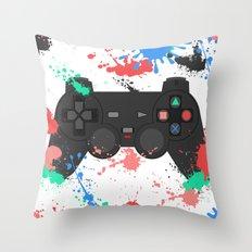Controller Graffitti PS Throw Pillow