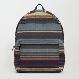 """Blue lines burlap"" Backpack"
