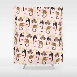Monkeys & Fruits Shower Curtain