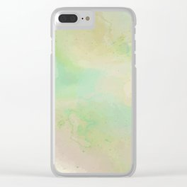 Speckled Grassy Meadow Clear iPhone Case