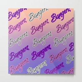 Bangerz Pattern Metal Print