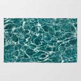 Aqua Underwater Wavy Rippling Water Rug