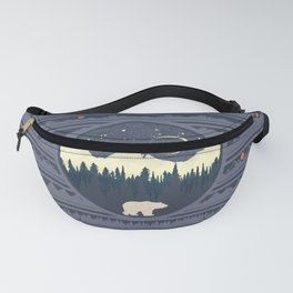 Mountains Bear Fanny Pack