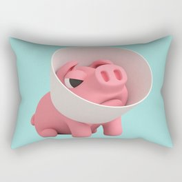 Rosa the Pig and Cone of Shame Rectangular Pillow