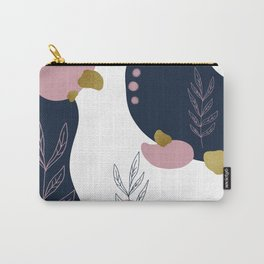 Pastel Pop in Midnight Blue with Metallic Gold Flecks Carry-All Pouch