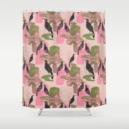 Huias and Proteas Shower Curtain