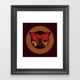 Puppet Butterfly Framed Art Print