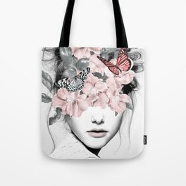 WOMAN WITH FLOWERS 10 Tote Bag