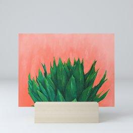 Millennial Agave - Succulent Pink Mini Art Print