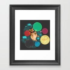 A PLAYFUL DAY Framed Art Print