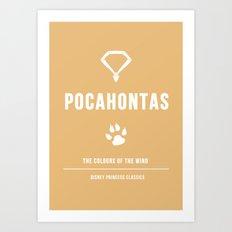 Disney Princesses: Pocahontas Minimalist Art Print
