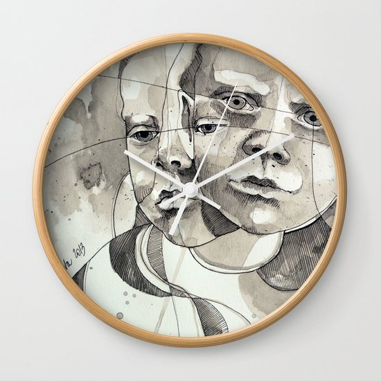 Made of two Wall Clock
