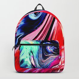 lava meets the sea abstract oil painting Backpack