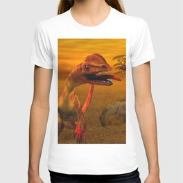 Awesome dilophosaurus T-shirt