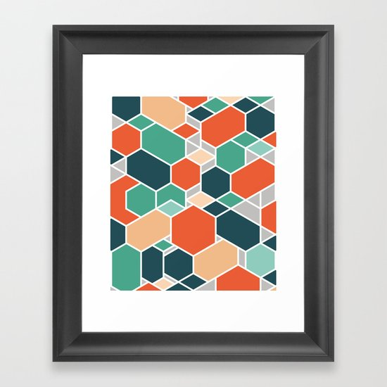 Hex P Framed Art Print