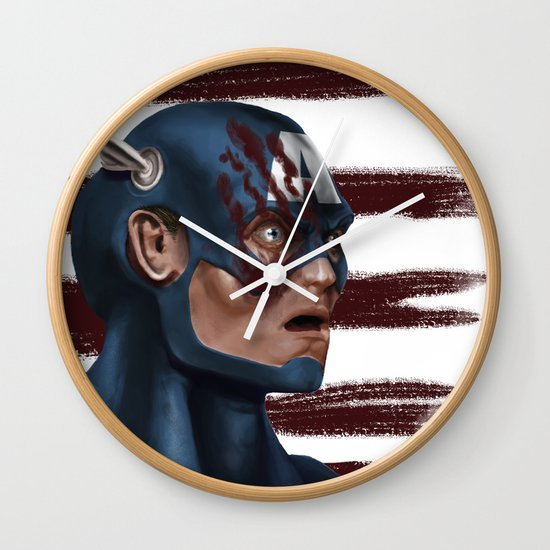 THE FACE COLLECTION - CAPTAIN AMERICA Wall Clock