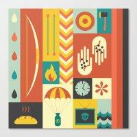 katniss Canvas Prints featuring Katniss by Ariel Wilson