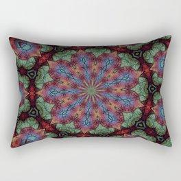 Scarab Lotus Mandala Rectangular Pillow