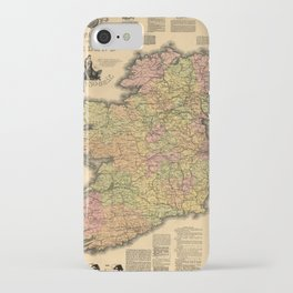 Vintage Map of Ireland (1893) iPhone Case