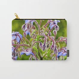 Wild Blue Borage Carry-All Pouch