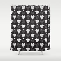 cupcakes Shower Curtains featuring Cupcakes by aisha richardson
