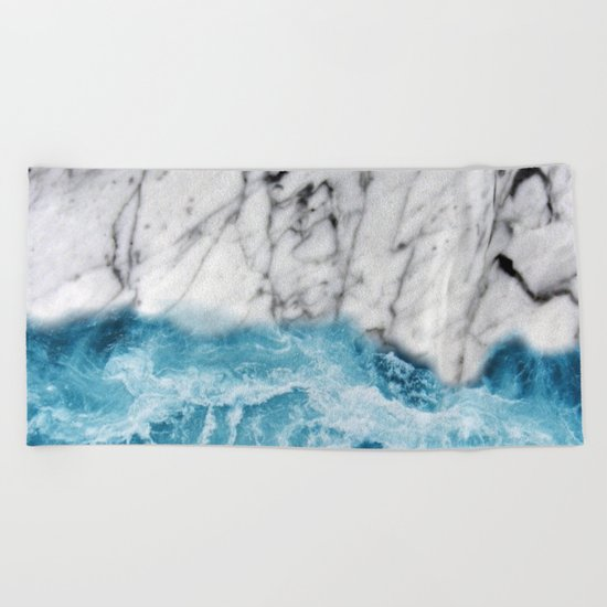 Marble sand Beach Towel