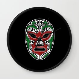 Mexican Wrestling Mask - Color Edition Wall Clock