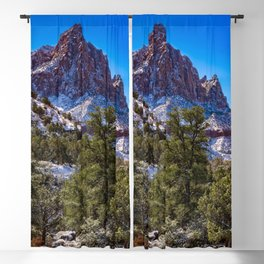 The_Watchman - Winter in Zion_National_Park, UT Blackout Curtain