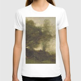 Jean-Baptiste-Camille Corot - The Bathers T-shirt